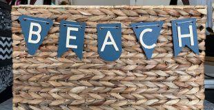 Cricut Beach Banner Basket