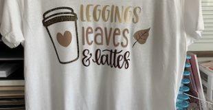 Leggings Leaves & Lattes Tee