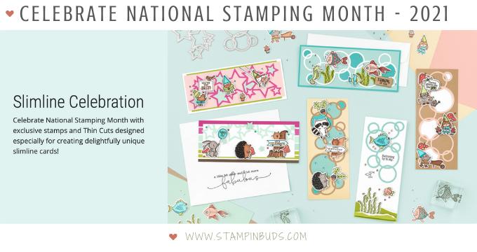 Slimline Celebration - CTMH National Stamping Month 2021