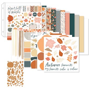 Pumpkin Spice Scrapbooking Kit